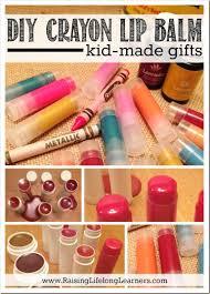 diy crayon lip balm kid made gifts