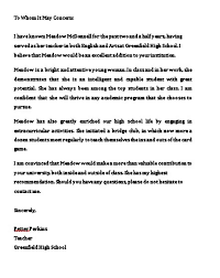 College Recommendation Sample Sample College Recommendation Letter Mous Syusa
