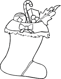 Christmas Stocking Coloring Pages to Print - Get Coloring Pages