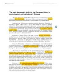 the main democratic deficit in the european union is  page 1