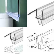 details about new shower door seal stop long leaks create a water barrier bathroom perfect fit