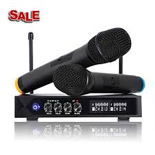 Karaoke <b>Wireless Microphone System</b> Bluetooth 4.1 Mic, LESHP S9 ...