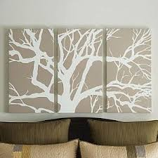 i ve been wanting to paint canvas for wall art lately too this looks a lot easier than what i had in mind  on 3 panel wall art diy with canvas tree art pinterest painted canvas canvases and easy
