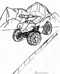 Elegant four wheeler coloring pages 36 artsybarksy