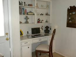 Built In Office Desk And Cabinets Furniture Tall Office Chair Feats Creative Built In Desk Plus