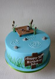 Johns Fishing Themed Birthday Cake In 2019 Cupcakes Fish Cake