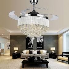 crystal chandelier ceiling fan combo ideas