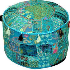 ethnic floor cushions. Fine Ethnic Round Ottoman Pouf Decorative Cushion Ethnic Indian Decor Art Bohemian  Stool Chair Pouffe Pouffes Floor And Floor Cushions D