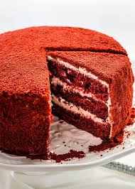 Image Closeup This Red Velour Cake Takes Your Classic Popular Red Velvet Cake And Brings It To The Next Level Of Eleganceu2026 Frosting Icings Fillings Toppings Pinterest This Red Velour Cake Takes Your Classic Popular Red Velvet Cake And