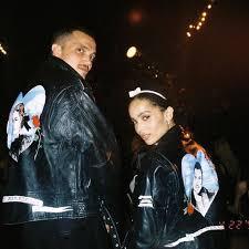 zoe kravitz and karl glusman marked their wedding with custom just married jackets