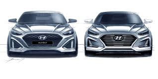 2018 hyundai sonata.  sonata 2018 hyundai sonata facelift sketches go official  update and hyundai sonata