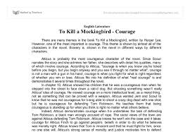essays on to kill a mockingbird on courage courage in harper lees to kill a mockingbird essay bartleby