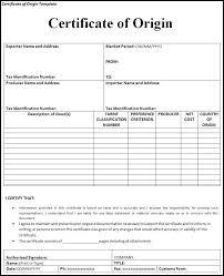 10 Certificate Of Origin Templates Free Printable Word Pdf