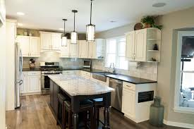 Granite Islands Kitchen Painting Existing Cabinets And Adding An Island Made A Dramatic