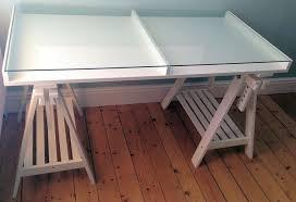 design of ikea white vika gruvan artur glass display trestle desk table throughout glass top ikea desk