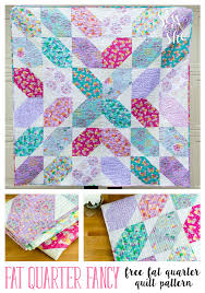 Free Quilt Patterns Awesome Fat Quarter Fancy Free Quilt Pattern Using 48 Fat Quarters