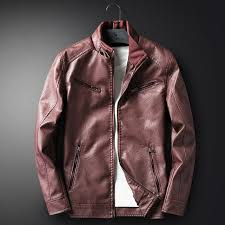 details about mens leisure warm slim fit leather jacket biker motorcycle coat overcoat outwear