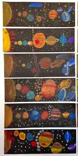 Solar System Activity Ideas: Our Solar System.Science/Art Project Colored  chalk and Q-tips Deborah Gangi-Hall grade.McKinley School Pasadena, CA