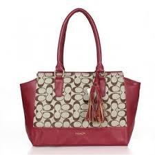 Coach Legacy Candace In Signature Medium Red Satchels ASO