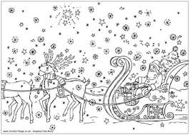 Small Picture Reindeer Colouring Pages
