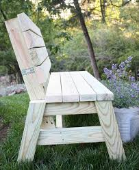 anything that adds form function and beauty and can be built with simple material is a diy dream this 2x4 outdoor bench would be perfect for around the