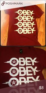 Obey T Shirt Size Chart Dark Red Obey T Shirt Dark Red Obey T Shirt With White