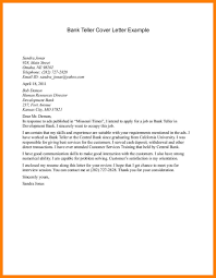 11 Teller Cover Letter Letter Setup