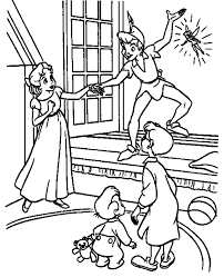 Peter Pan Flying Coloring Pages Many Interesting Cliparts