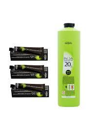 Loreal Professionnel Inoa Hair Colour No 1 Black With Developer 20 Vol 6