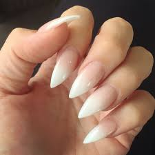 French Tip Stiletto Nail Designs Pin By Fred Darkow On Stiletto Nail Art French Stiletto