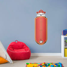 Marshall Growth Chart X Large Paw Patrol Wall Decal