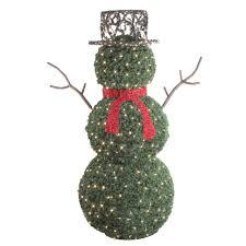 GKI/Bethlehem Lighting 6.5\u0027 Giant Commercial Grade LED Lighted Snowman Topiary Outdoor
