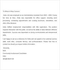 Sample Employment Letters Of Recommendation Employee Letter Of Recommendation Template Getpicks Co