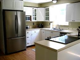Small U Shaped Kitchen White Cabinet Storage Wall Mounted Small U Shaped Kitchen Built In