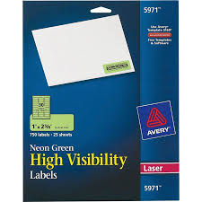 avery 1 x 2 5 8 template avery high visibility permanent id labels laser 1 x 2 5 8 neon green 750 pack
