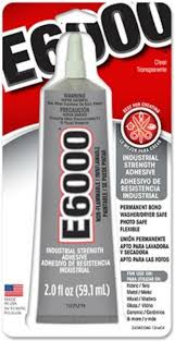 e6000 glue commonly used for gluing glass