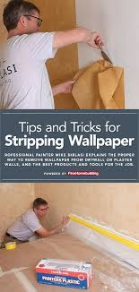 stripping wallpaper removing old