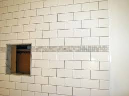 top bathroom wall decoration ideas subway tile shower with accent grey glass mosaic wall accent bathroom
