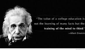 college education quote with albert einstein