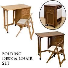 Desk Chair set natural wood folding desk & Chair set drawer type desk  wood folding desk sidebar folding desk desk fashionable writing desk pc Desk  ...