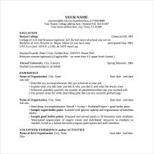 sample college resume template to print sample of a college resume