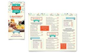 family menu template family restaurant take out brochure template design