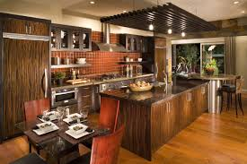 Kitchen Island Decorating Decoration Luxury Kitchen Decorating Ideas Wooden Varnished