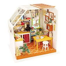 robotime exquisite diy house miniature dollhouse kits kitchen room birthday gifts for boyfriend friend