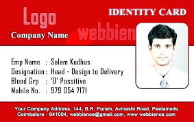 Identification Card Samples Employee Identification Card Template Naomijorge Co