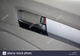car door lock handle inside view
