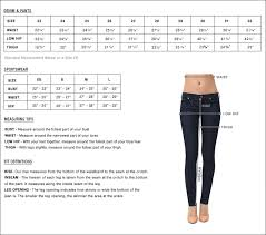 Jeans Size Conversion Waist Size To Us Sizing Womens