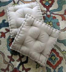 Floor Pillows And Poufs Linen Floor Pillow Tufted Floor Cushion With French Mattress