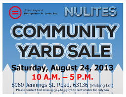 Community Yard Sale Flyer 8 24 2013 Ulstl