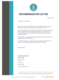 professional letter of recommendation